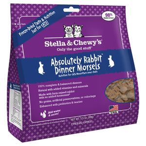 STELLA & CHEWY'S Freeze-Dried Dinner Morsels Absolutely Rabbit Morsels, 99g