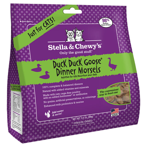 STELLA & CHEWY'S Freeze-Dried Dinner Morsels Duck Duck Goose Dinner, 99g