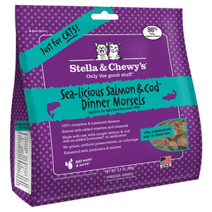 STELLA & CHEWY'S Freeze-Dried Dinner Morsels Sea Licious Salmon & Cod, 99g