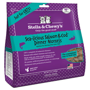 STELLA & CHEWY'S Freeze-Dried Dinner Morsels Sea Licious Salmon & Cod, 255g