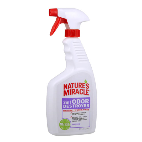 NATURE'S MIRACLE 3 in 1 Odor Destroyer Unscented, 709ml