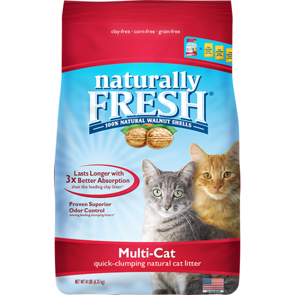 NATURALLY FRESH Multi-Cat Quick-Clumping, 14lb