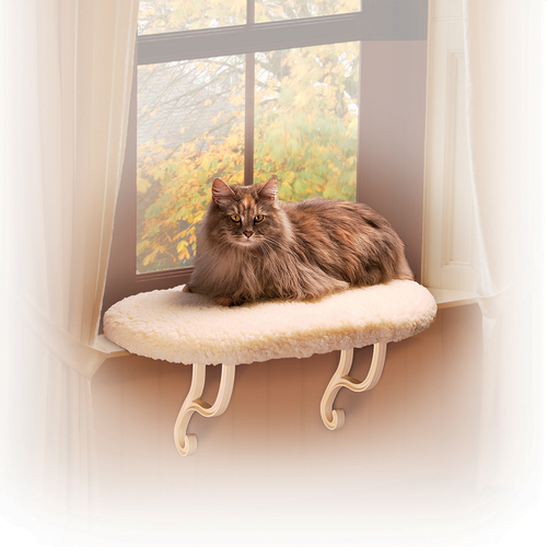 K&H PET Fleece Kitty Sill