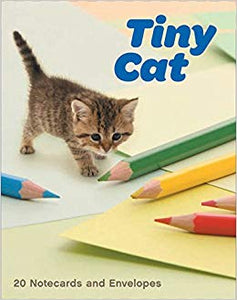 TINY CAT 20 Notecards and Envelopes