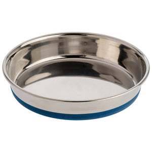 OUR PET'S Rubber Bonded Stainless Steel Dish, 16oz
