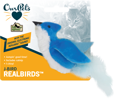 OUR PET'S Play N Squeak Catnip Jay Bird