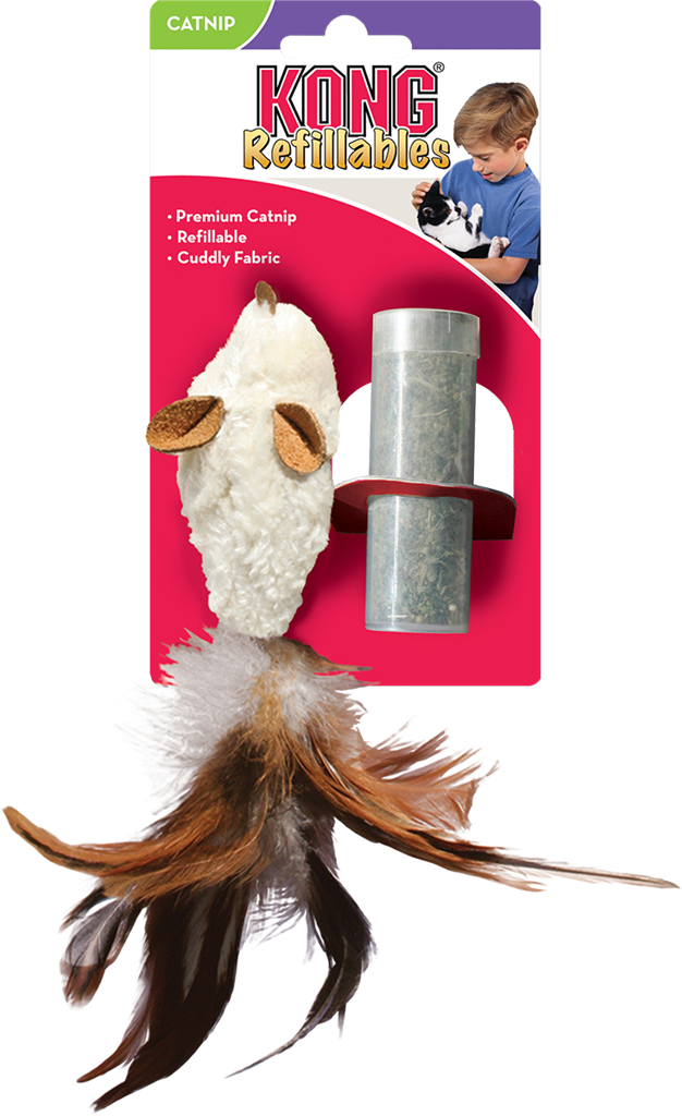 KONG Refillable Catnip Feather Mouse