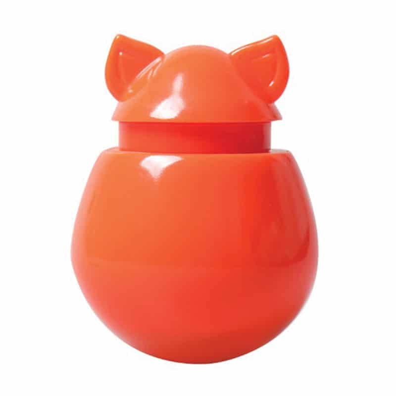 DOYENWORLD Refillable Catnip & Treat Dispenser, Tangerine