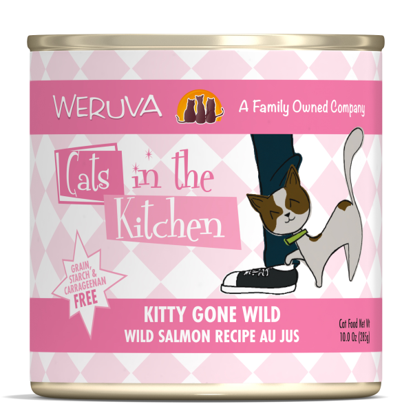 CATS IN THE KITCHEN Kitty Gone Wild Salmon Recipe Au Jus, 284g