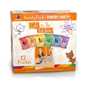 CATS IN THE KITCHEN Variety Pack, 12 x 85g pouch