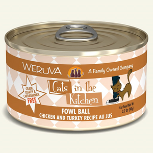 WERUVA Cats in the Kitchen Fowl Ball, 3.2oz
