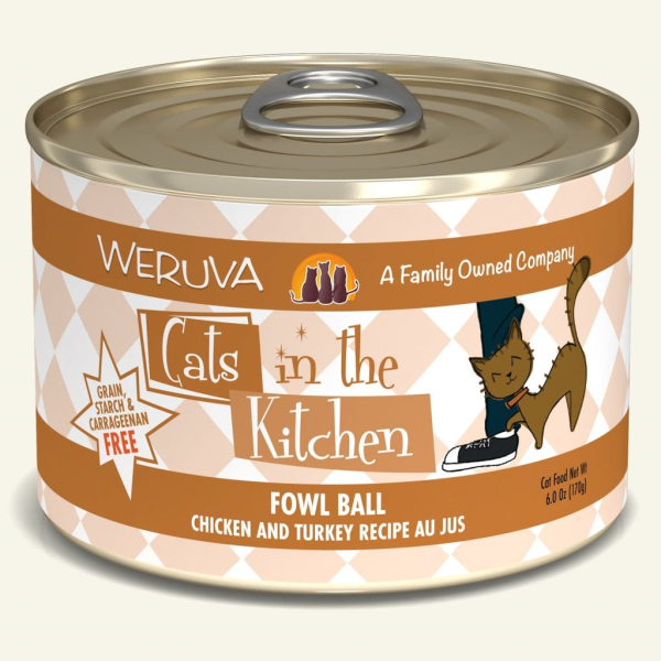 CATS IN THE KITCHEN Fowl Ball Chicken & Turkey Recipe Au Jus, 170g