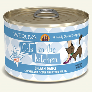 CATS IN THE KITCHEN Splash Dance Chicken & Ocean Fish Recipe Au Jus, 170g