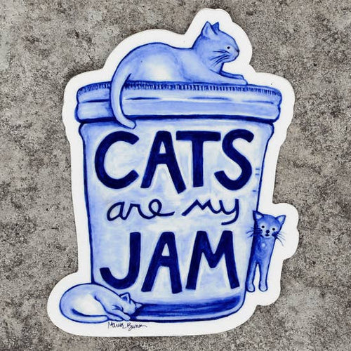 XENOTEES Cats Are My Jam Sticker