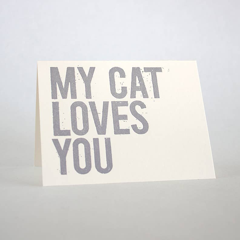 FUGU FUGU PRESS My Cat Loves You Card