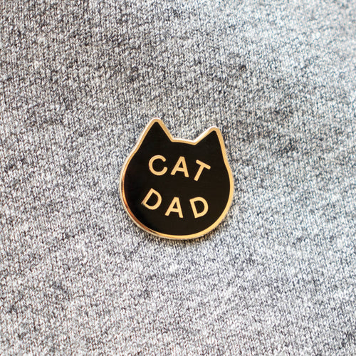 EVERYDAY OLIVE Cat Dad Pin