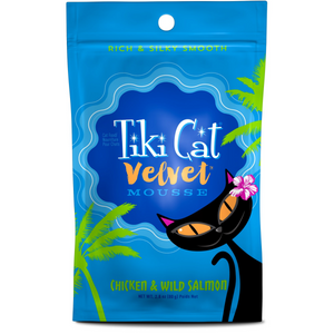 TIKI CAT Velvet Mousse Chicken & Wild Salmon, 80g pouch