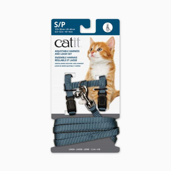CATIT Adjustable Harness & Leash Set Blue, Small