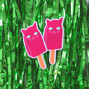 BABY CATS OF CALIFORNIA Sparkly Popsicle Sticker