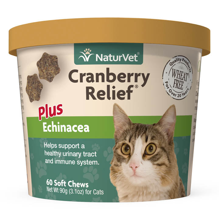 NATURVET Cranberry Relief Plus Echinacea, 60 Soft Chews