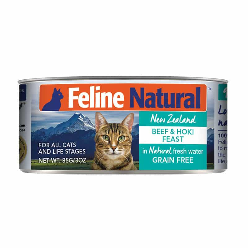 FELINE NATURAL New Zealand Beef & Hoki Feast, 85g