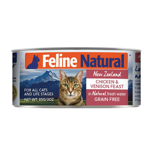 FELINE NATURAL New Zealand Chicken & Venison Feast, 85g