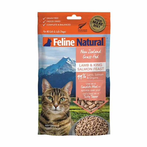 FELINE NATURAL Freeze-Dried Lamb & Salmon, 100g