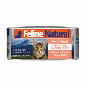 FELINE NATURAL New Zealand Lamb & Salmon, 85g