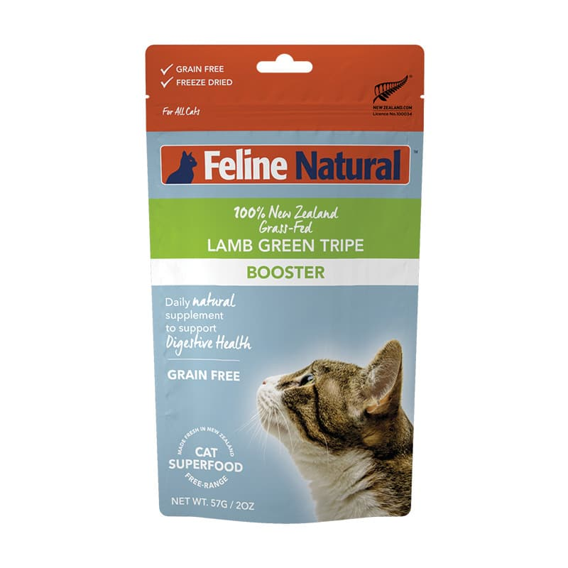 FELINE NATURAL Freeze-Dried Green Tripe Booster, 57g