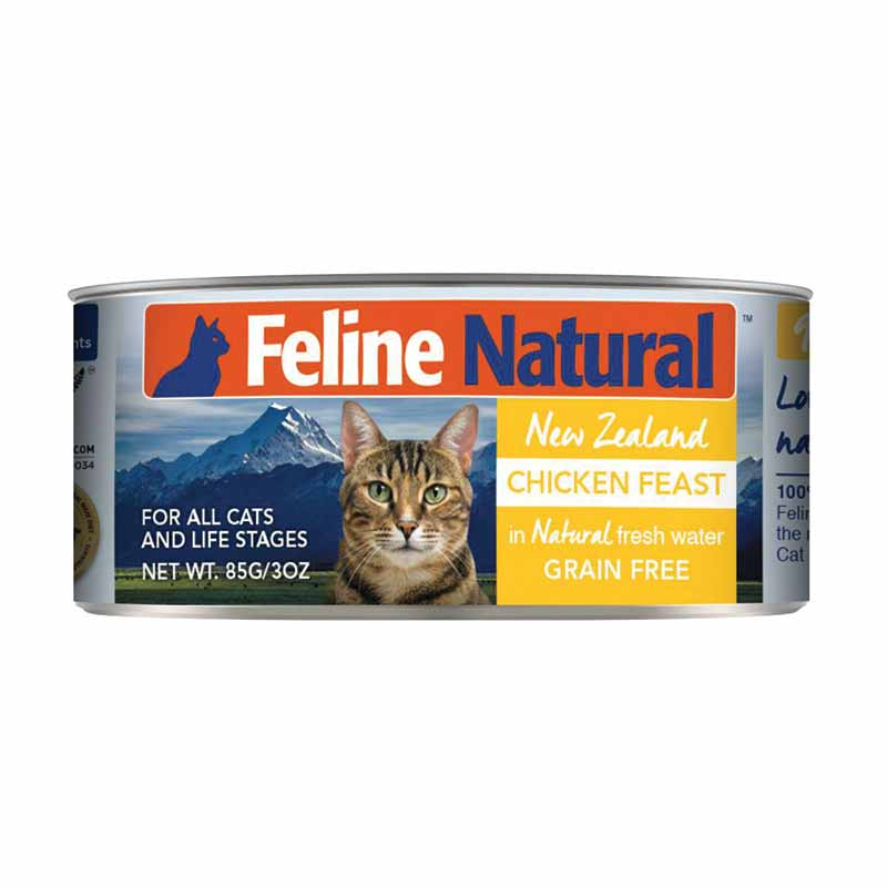 FELINE NATURALS New Zealand Chicken Feast, 85g