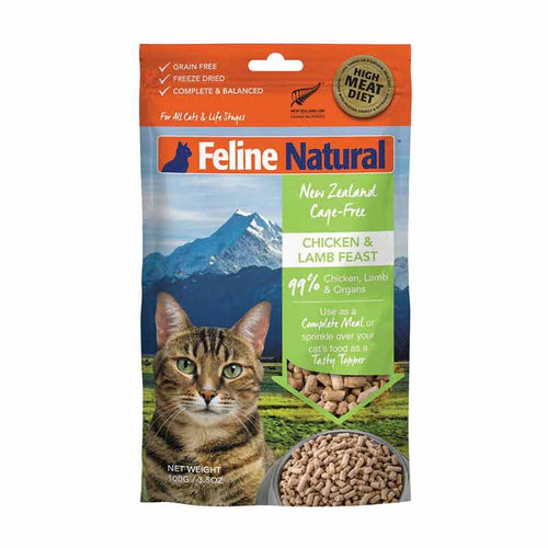 FELINE NATURAL Freeze-Dried Chicken & Lamb, 100g