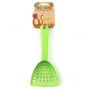 BECO PETS Bamboo Litter Scoop, green