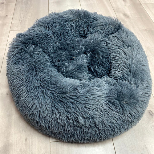 SNUG Fluffy Donut Bed, Dark Grey 50cm