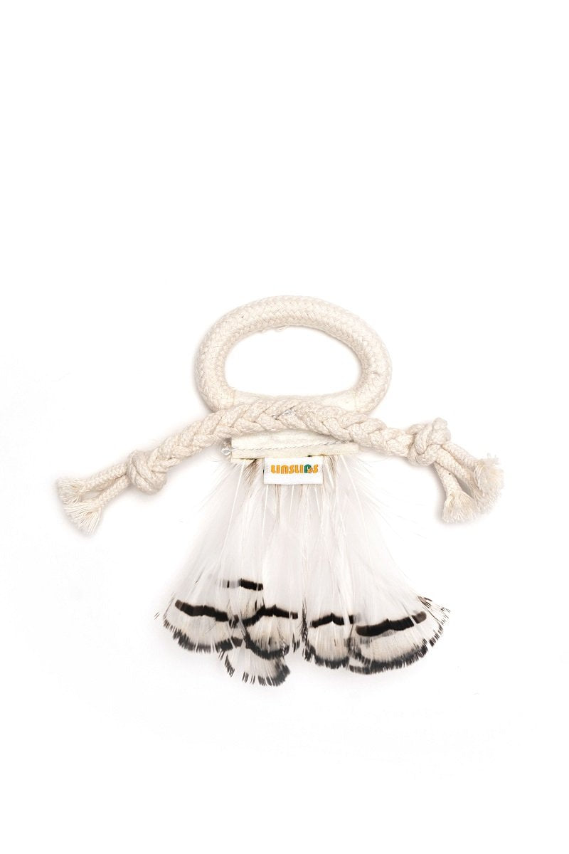 LINSLINS Cotton Rope & Feather Toy