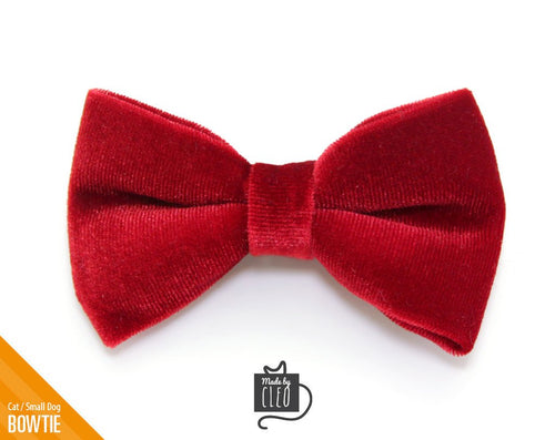 MADE BY CLEO Luxe Red Velvet Bow Tie