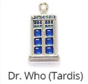 MADE BY CLEO Collar Charm, Doctor Who Tardis