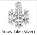 MADE BY CLEO Collar Charm, Silver Snowflake