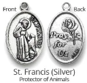 MADE BY CLEO Collar Charm, Silver St Francis