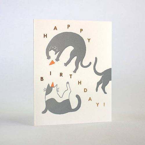 FUGU FUGU PRESS Birthday Cats Card