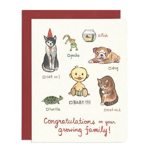 GOTAMAGO Growing Family Card