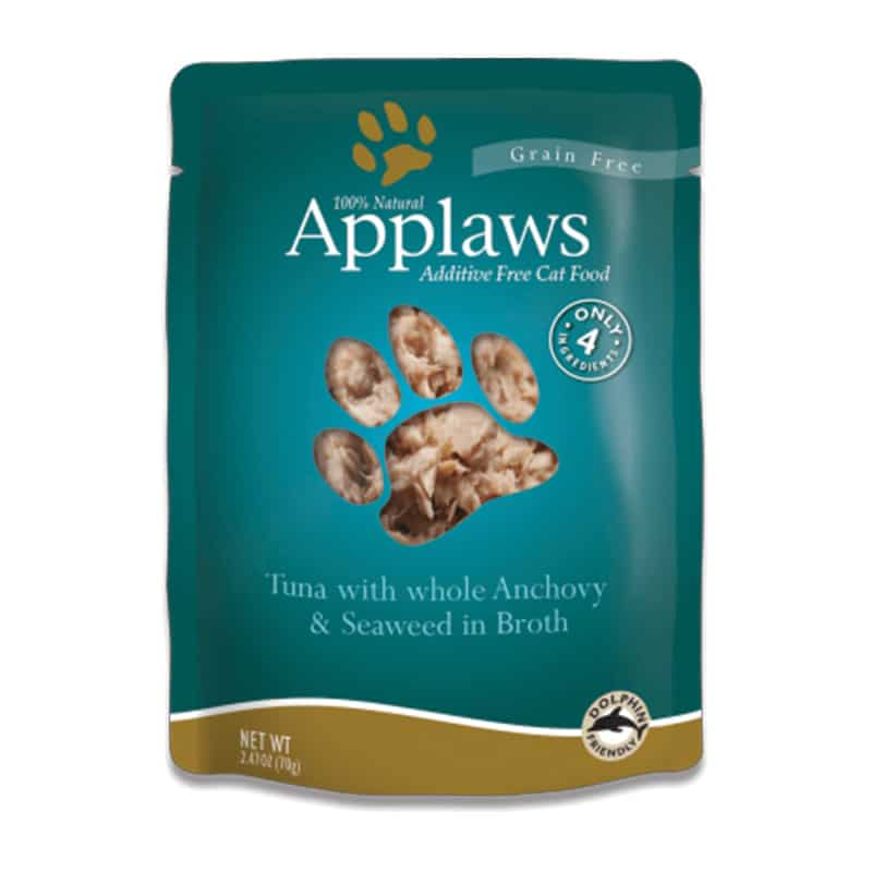 APPLAWS Tuna & Anchovy in Broth Pouch, 70g