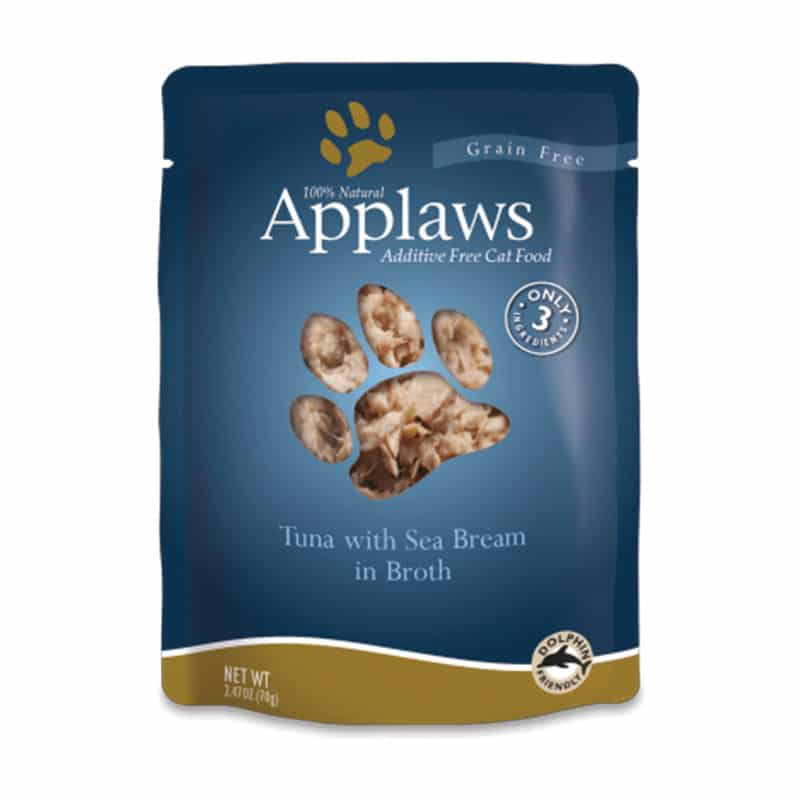 APPLAWS Tuna & Sea Bream in Broth Pouch, 70g