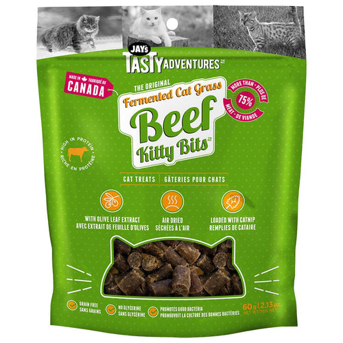 JAY'S Fermented Cat Grass Beef Kitty Bits, 60g