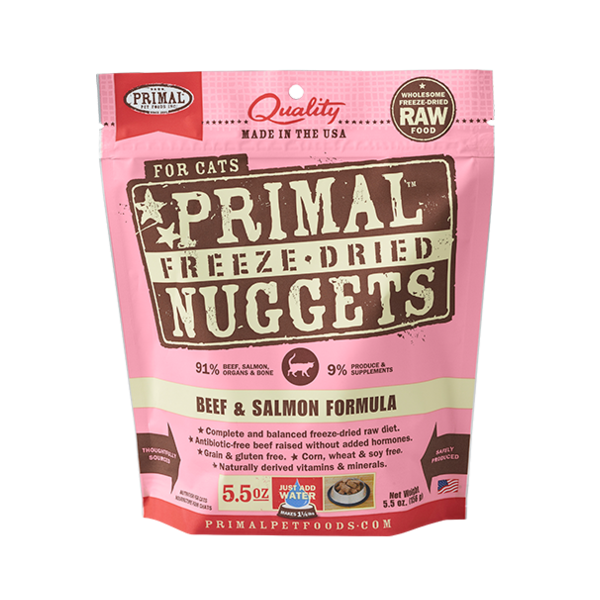 PRIMAL Freeze-Dried Beef & Salmon Formula, 5.5oz
