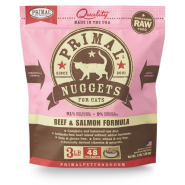 PRIMAL Frozen Raw Beef & Salmon Nuggets, 3lbs