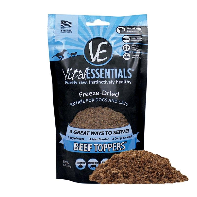 VITAL ESSENTIALS Freeze-Dried Meal Boost Topper Beef, 170g