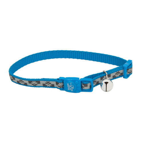 COASTAL LazerBrite Reflective Breakaway Collar, blue lagoon flowers