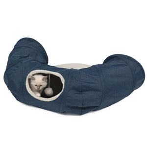 CATIT Vesper Tunnel w/Sleeping Cushion, Blue