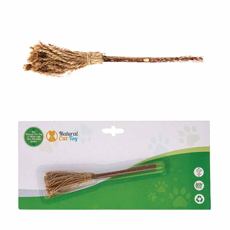 NATURAL CAT TOYS Silver Vine Miraculous Magic Broom