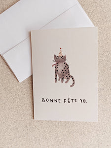 MIMI & AUGUST Bon Fete Yo! Birthday Card